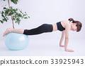 健身球 平衡球 女性 33925943