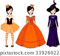 Girl with Dresses for Halloween Party 33926022