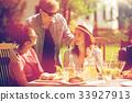 happy, friends, dinner 33927913