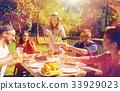 happy, friends, dinner 33929023