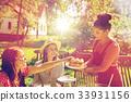 happy, friends, dinner 33931156