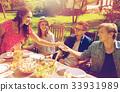 happy, friends, dinner 33931989
