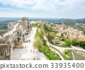 Lower courtyards in Les Baux-de-provence in France 33935400