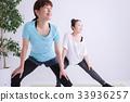 女人伸展 33936257