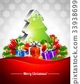 Vector Holiday illustration on a Christmas theme 33938699