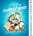 Vector Summer Holiday Flyer Design with palm trees 33938784