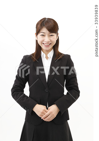 Business woman business suit woman white background 33939839