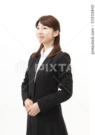 女商人西裝婦女白色背景 33939840