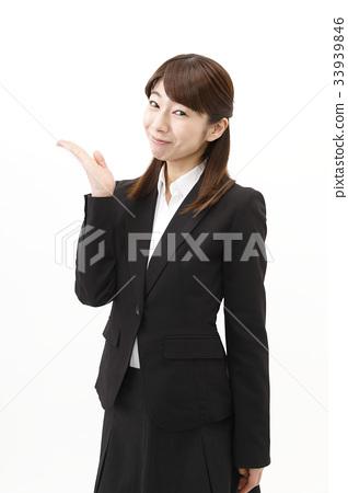 女商人西裝婦女白色背景 33939846