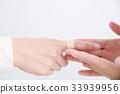 붙이다, 손가락, 손 33939956