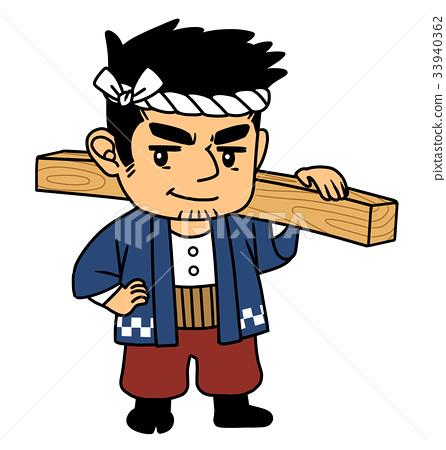 木匠負責木材 33940362