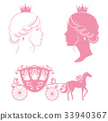 princess, vector, silhouette 33940367