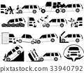 mini van crash and accidents on the road icons 33940792