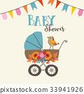 baby shower card 33941926