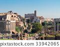 Forum - Roman ruins in Rome, Italy 33942065