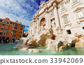 Fountain di Trevi in Rome, Italy 33942069