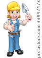 builder construction trowel 33942473