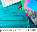 Stationery colorful school writing tools keyboard 33942489