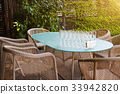 Wicker armchairs and table, modern garden 33942820