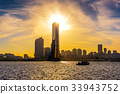 Downtown skyline in Seoul, South Korea. 33943752