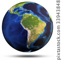 Planet Earth white isolated 3d rendering 33943848