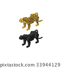 เสือชีต้าเสือดาวสีดำ 33944129