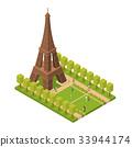 Eiffel Tower Famous Landmark of Paris Isometric 33944174