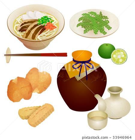 Various foods of Okinawa 33946964