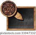 coffee, beans, blackboard 33947332
