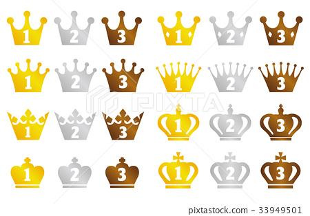 왕관 랭킹 1 위 ~ 3 위 세트 33949501