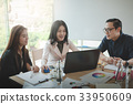 Business workers group meeting in office 33950609