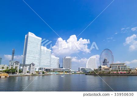 도시 풍경 (푸른 하늘 요코하마 미나토 미라이) 33950630