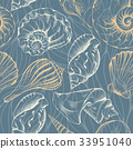 Shell seamless pattern 33951040