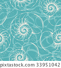 Shell seamless pattern 33951042