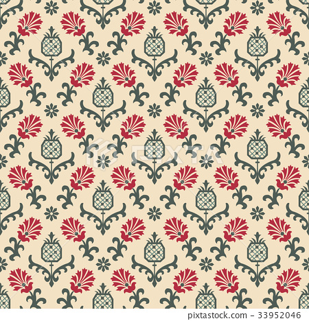 Seamless background vintage retro pattern 33952046