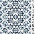 復古 無縫的 花紋 33952192