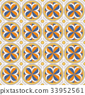 Seamless background vintage retro pattern 33952561