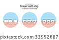Braces teeth step in circle illustration vector 33952687