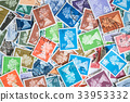 Background of stamps mail from different countries 33953332