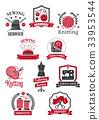 Tailor, sewing shop symbols for handmade design 33953544