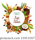 Nut and bean, seed and herb poster 33953567