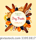 Dried fruits for healthy snack food design 33953817