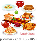 Danish cuisine dishes for menu design 33953853