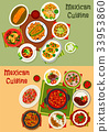 Mexican cuisine dishes dinner set 33953860