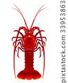 大螯虾 甲壳动物 对虾 33953863