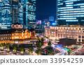 東京站丸之內夜景 33954259