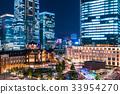 東京站丸之內夜景 33954270
