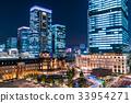 東京站丸之內夜景 33954271