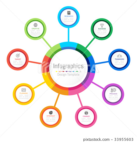 Infographic design elements with 9 options 33955603