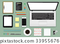 office, elements, vector 33955676